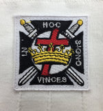 Masonic Knight Templar KT 100% Cotton Machine Embroidery Emblem Glove - Bricks Masons