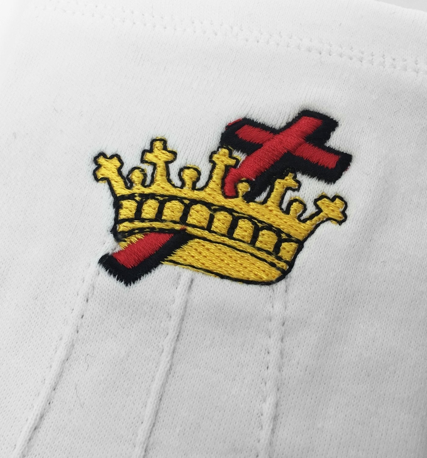 Masonic Knight Templar KT 100% Cotton Machine Embroidery white Glove - Bricks Masons
