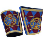 Masonic Gauntlets Cuffs - Embroidered - Bricks Masons