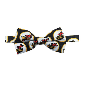 High Quality 100% Silk Masonic Knight Templar Bow Tie Black & White - Bricks Masons