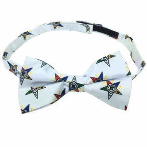 High Quality 100% Silk Masonic Order of Eastern Star Bow Tie - Bricks Masons