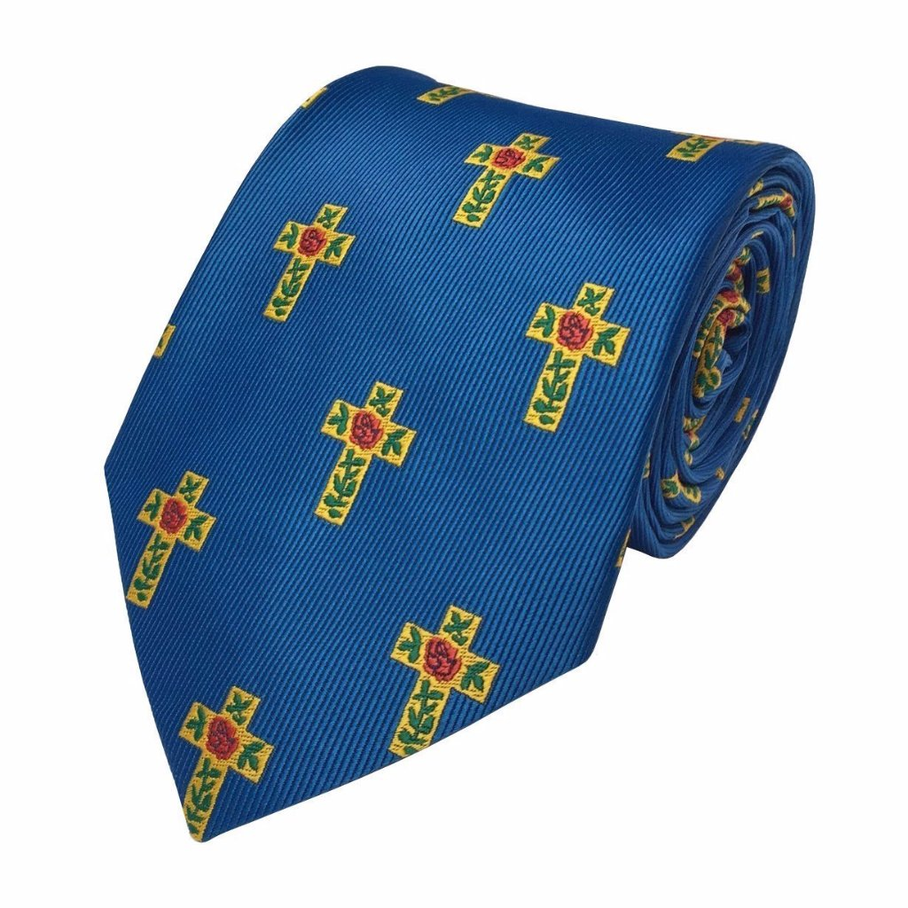 Masonic 100% Silk Rose Croix Tie - Bricks Masons