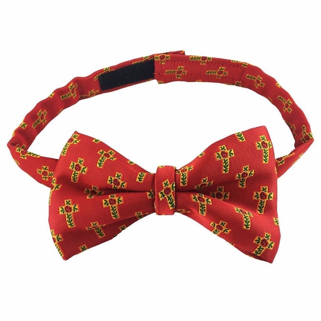Masonic 100% silk Rose Croix Degree Bow Tie Red - Bricks Masons
