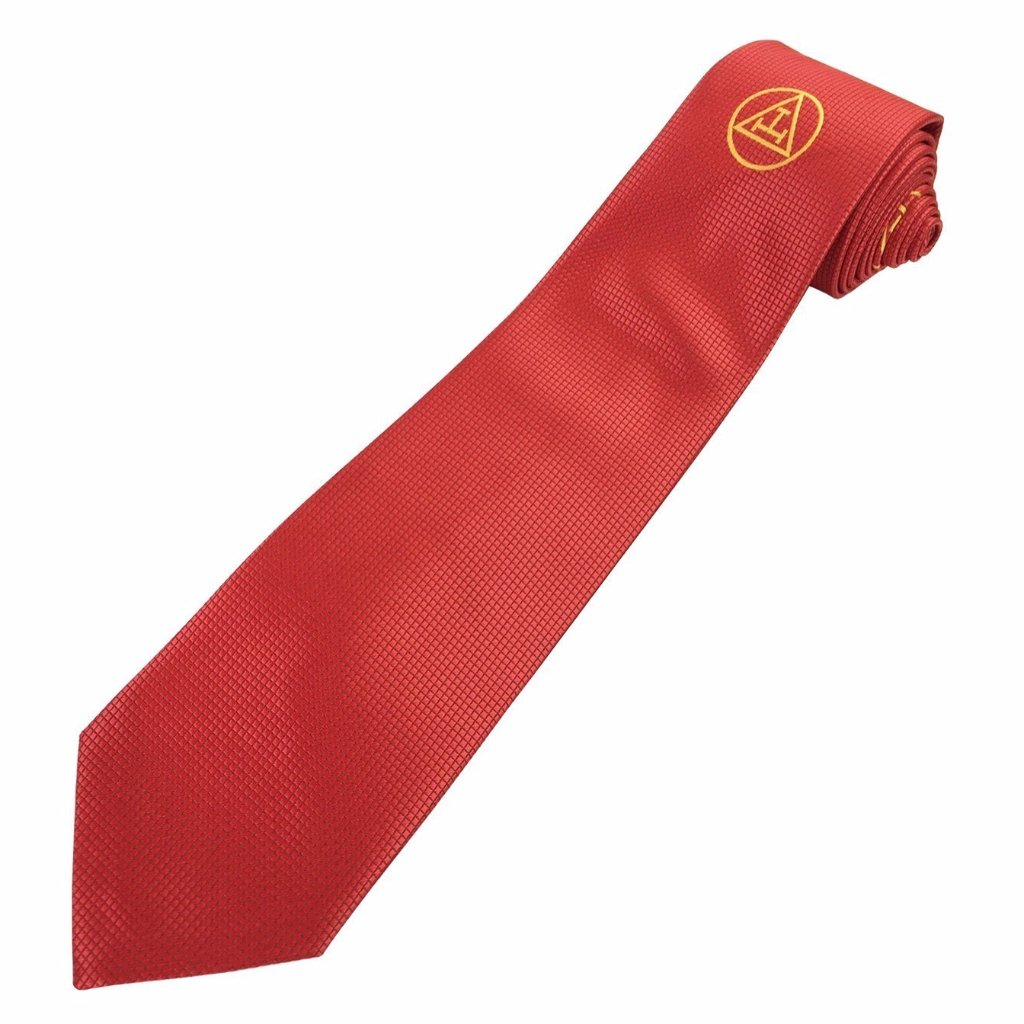 Masonic 100% silk Royal Arch RA Silk Tie with embroided Logo - Bricks Masons