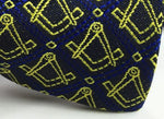 Masonic Regalia Silk Bow Tie with Square and Compass - Bricks Masons