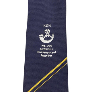 Masonic Regalia Tie with lodge logo - Bricks Masons