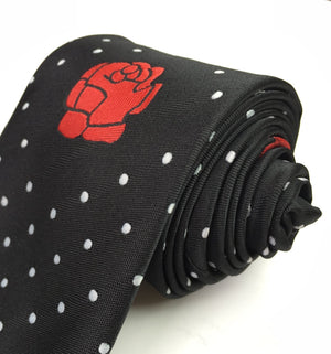 Masonic 100% silk Rose Croix polkadot Tie with Logo - Bricks Masons