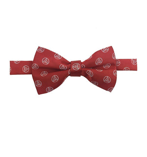 Masonic Royal Arch silk RA Bow Tie with Tau Red & White - Bricks Masons