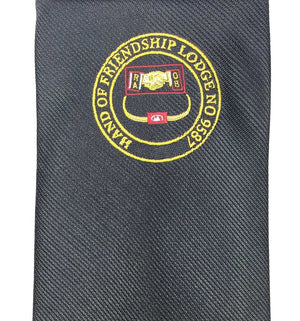 Masonic Tie with Lodge logo - Bricks Masons