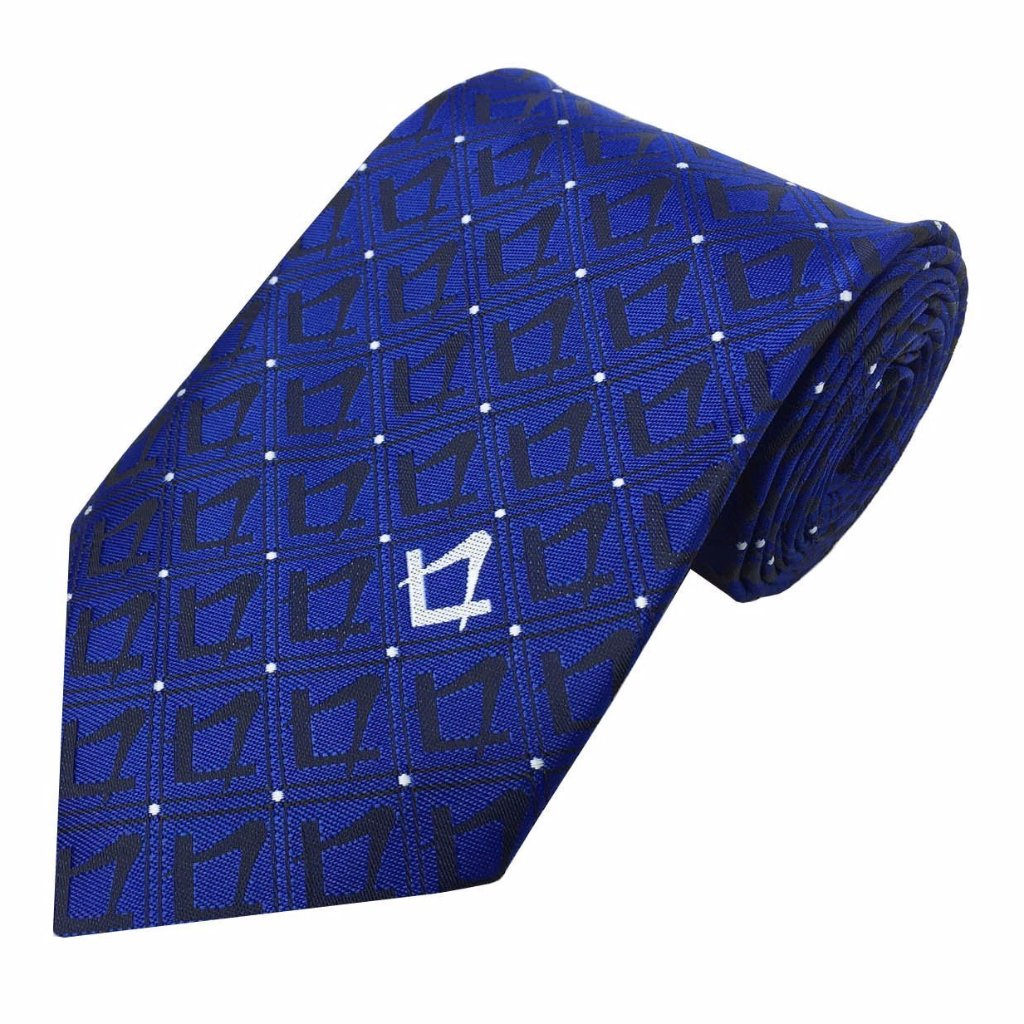 Masonic Tie with Square Compass - Bricks Masons