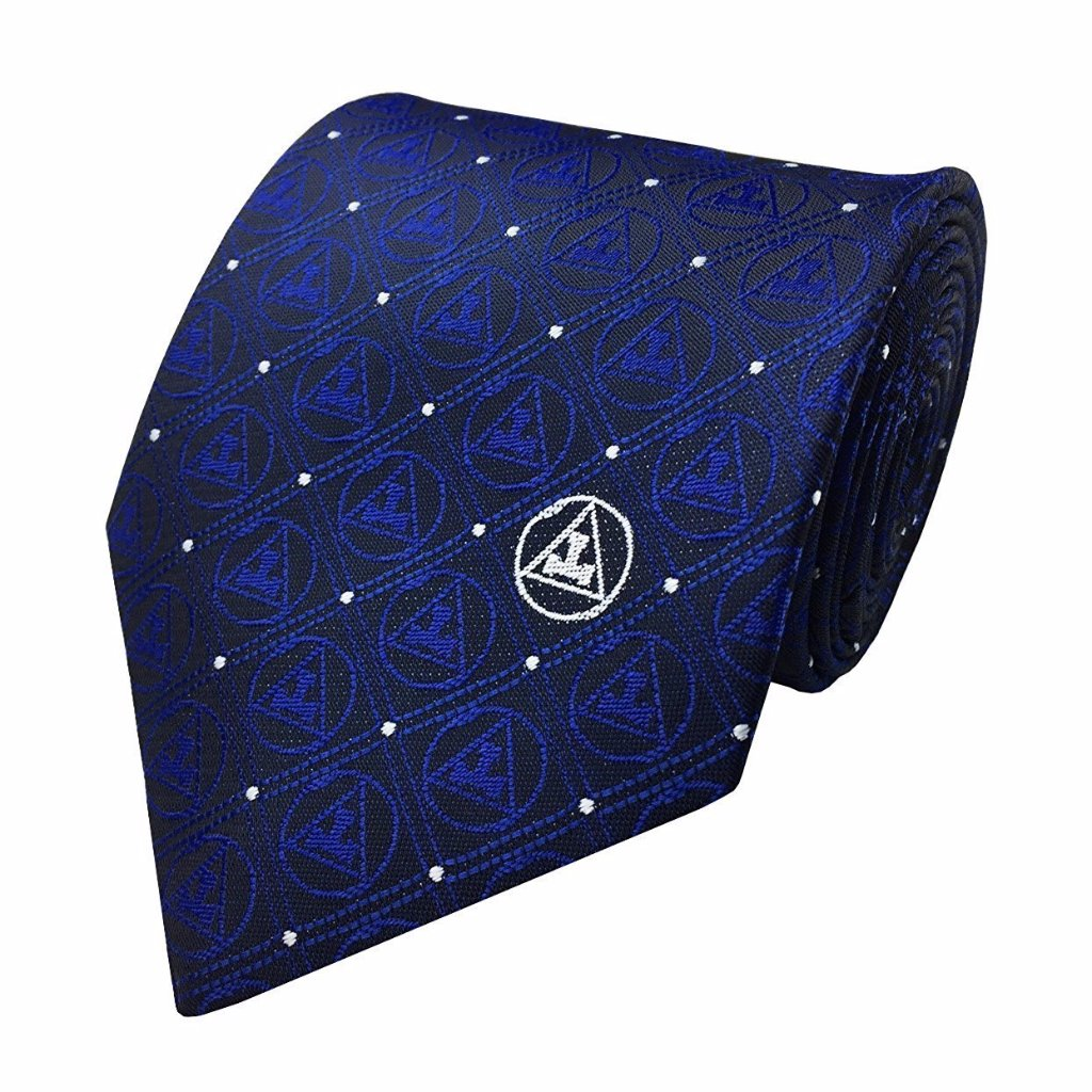 New Design Masonic Regalia Silk Tie with Royal arch Triple tau Mens Necktie - Bricks Masons