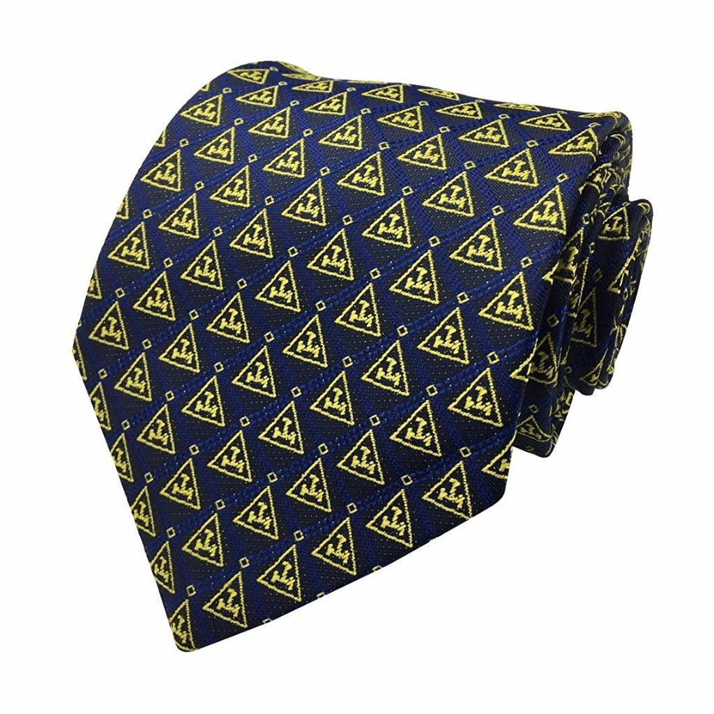 New Design Masonic Royal Arch Tie with Gold Triple Tau Freemasons Necktie - Bricks Masons