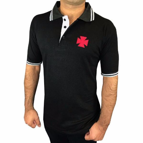 Masonic Knight Templar Polo Shirt KT Embroidery Logo - Bricks Masons