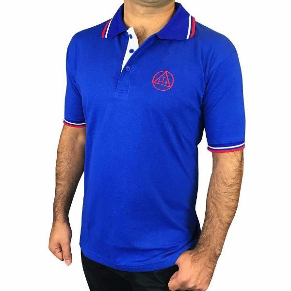 Masonic Golf Polo Shirt with Royal Arch Embroidery Logo - Bricks Masons