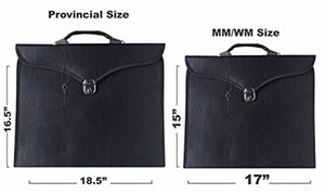 Masonic Regalia Provincial Full Dress Apron Case [Multiple Colors] - Bricks Masons