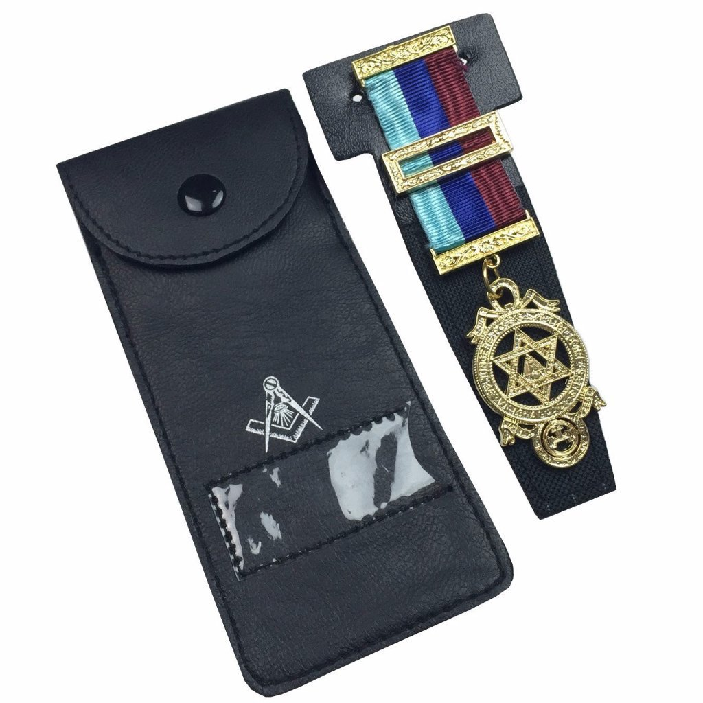Quality Masonic Regalia Pocket Jewel Holder / Wallet masonic carry case - Bricks Masons