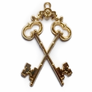 Masonic Gold Regalia Jewel - Treasurer - Bricks Masons