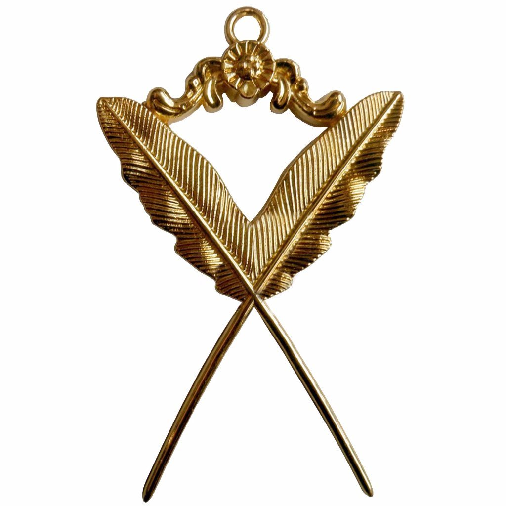 Masonic Secretary Collar Jewel - Bricks Masons