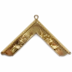 Masonic Gold Craft Lodge Collar Jewel Gold - Worshipful Master - Bricks Masons