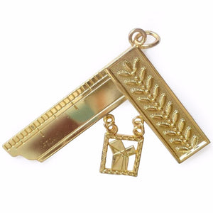 Masonic Gold Craft Lodge Collar Jewel gold - Past Master - Bricks Masons