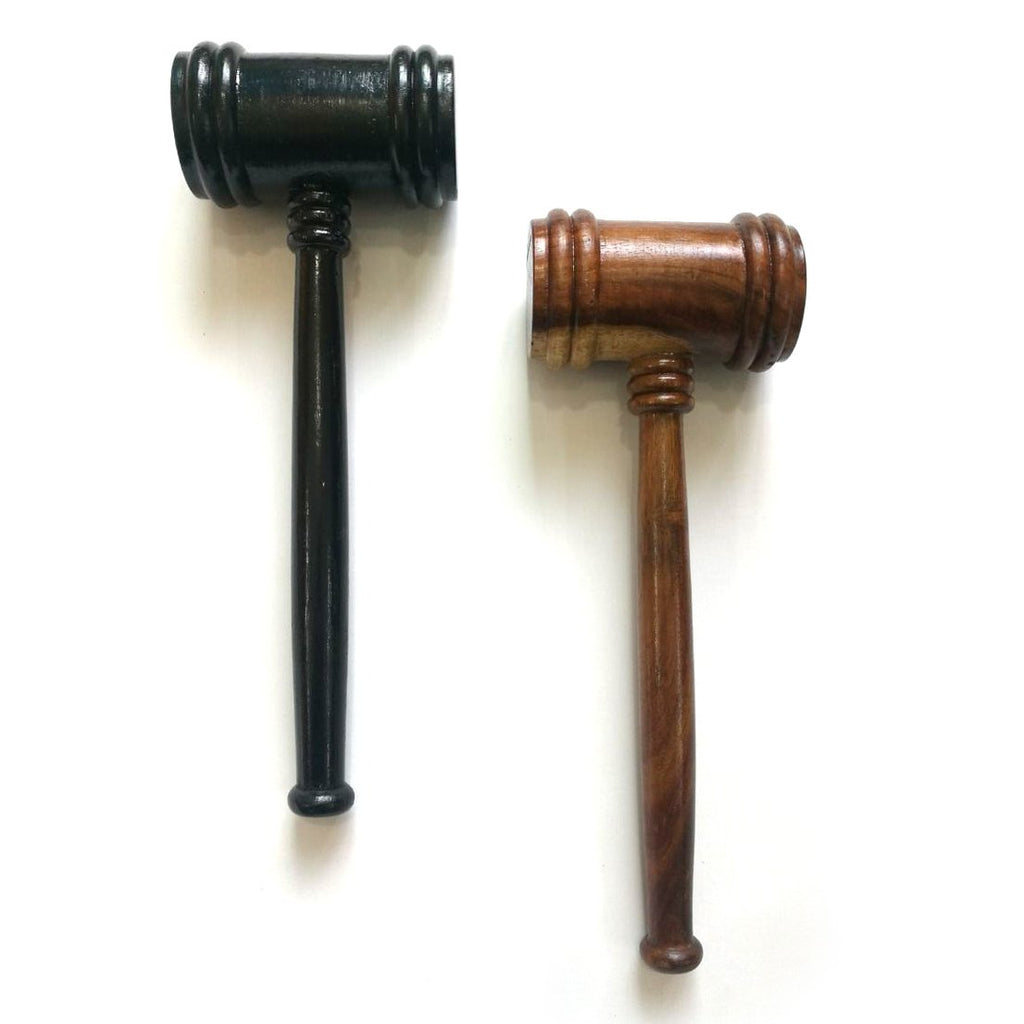 Wooden Handcrafted Gavel [Black & Brown] - Bricks Masons