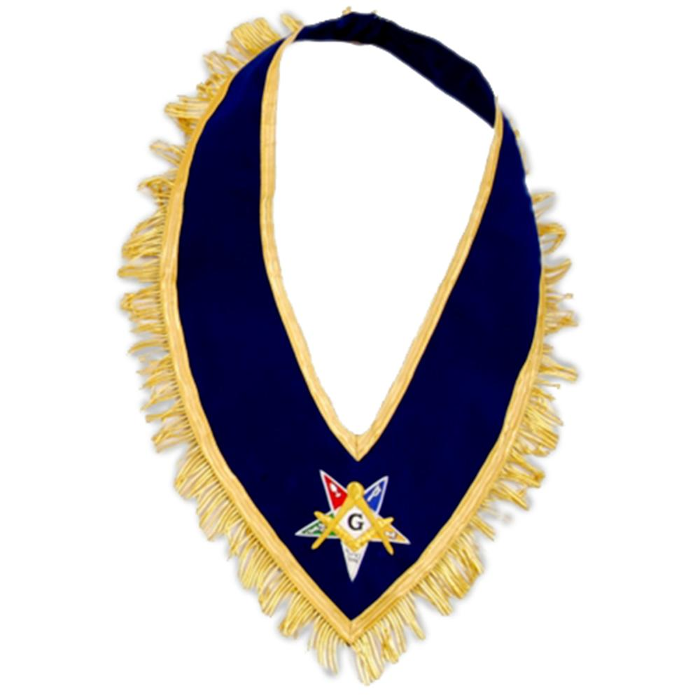 Past Grand Patron Order of the Eastern Star OES Collar - Bricks Masons