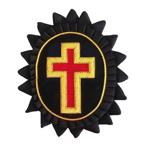 Knights Templar Chapeau Rosettes - Bullion Embroidery - Bricks Masons