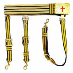 Knights Templar Past Commander Black & Gold Sword Belt - Bricks Masons