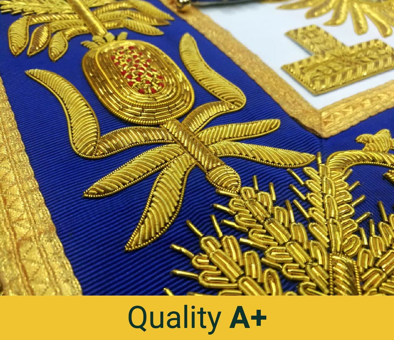 Deluxe Masonic Grand Lodge Master Full Embroidery Aprons - Custom - Bricks Masons
