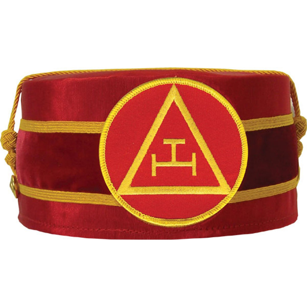 Royal Arch Masonic Triple Tau Cap Red