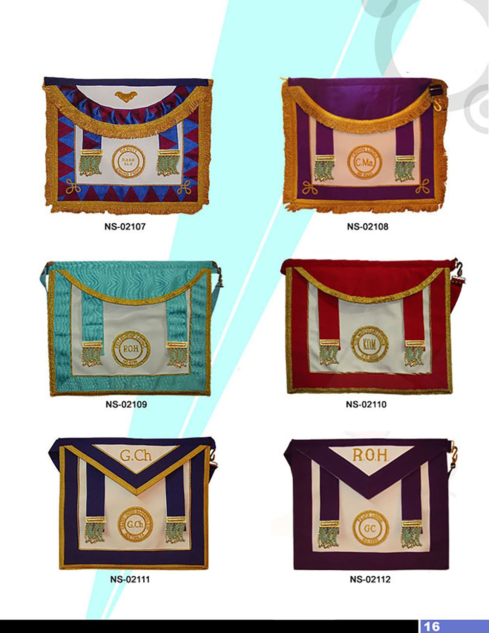 Royal Antediluvian Order of Buffaloes RAOB - Aprons - Bricks Masons