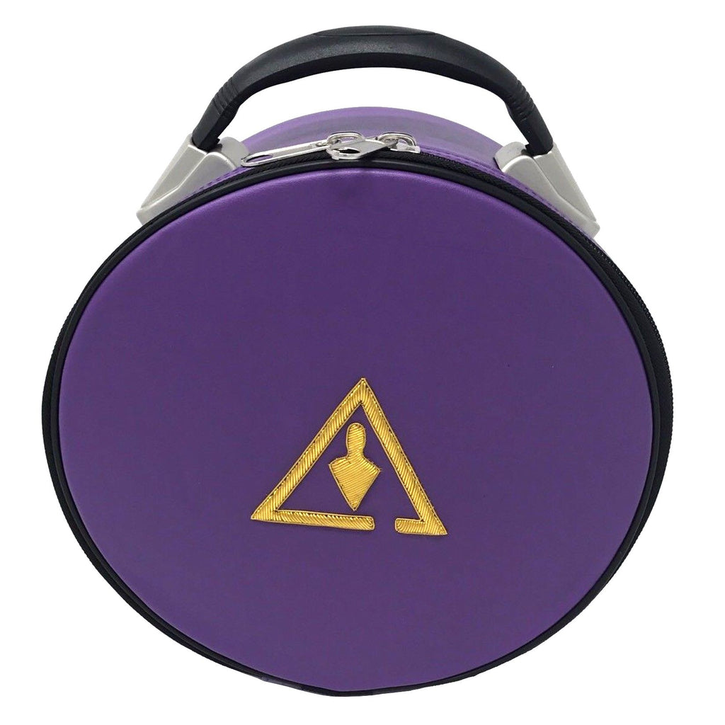Royal & Select Cryptic Masonic Hat/Cap Case Purple - Bricks Masons