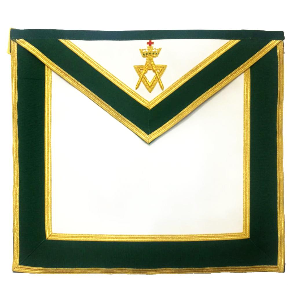Allied Masonic Degree AMD Past Sovereign Master Apron Hand Embroidered - Bricks Masons