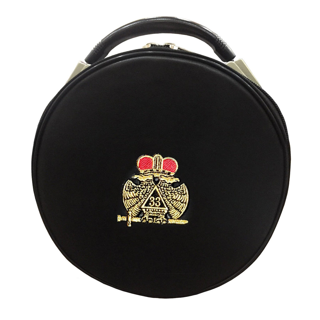 Masonic Scottish Rite Double-Eagle 33 Degrees Hat/Cap Case - Bricks Masons