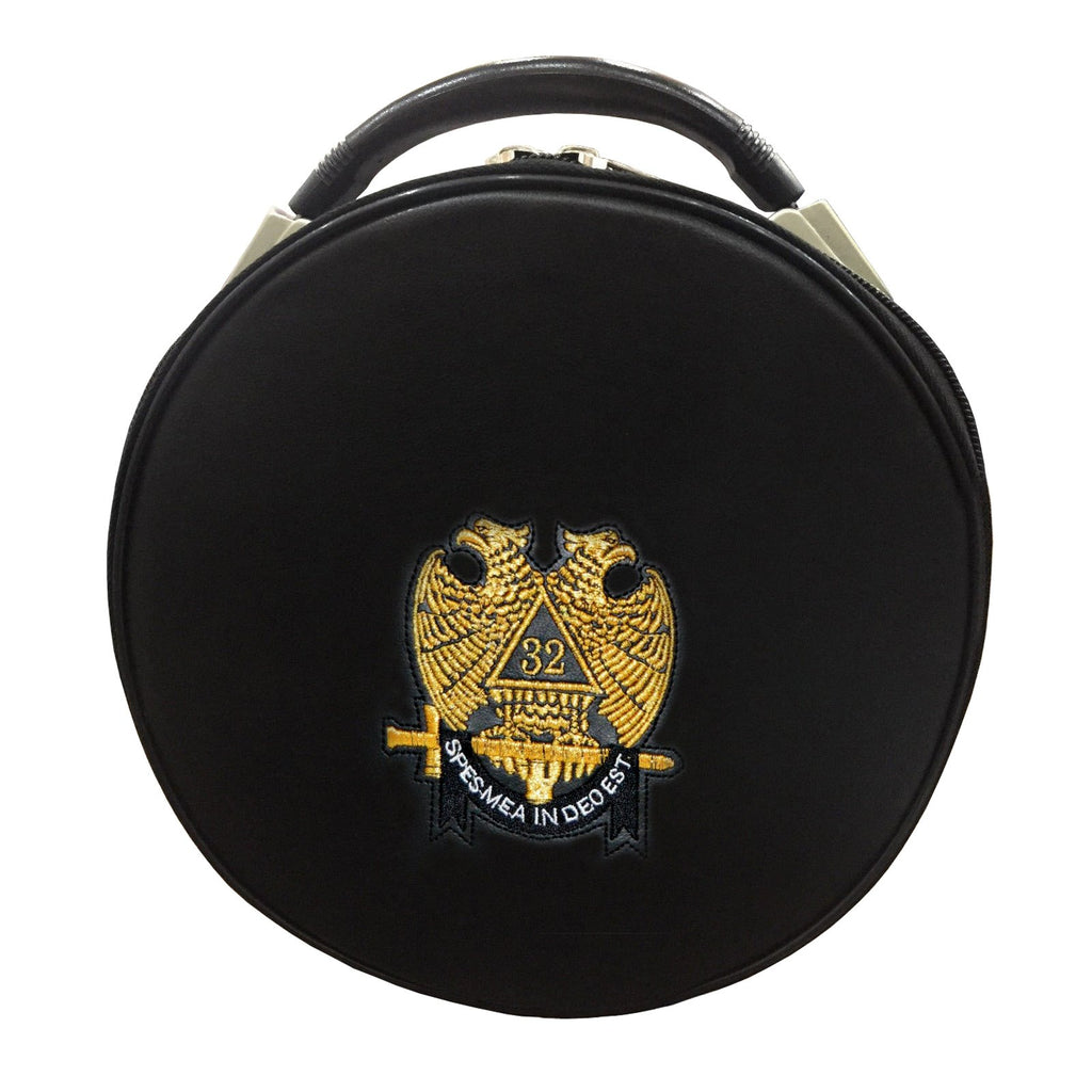 Masonic Scottish Rite Double-Eagle 32 Degrees Hat/Cap Case - Bricks Masons
