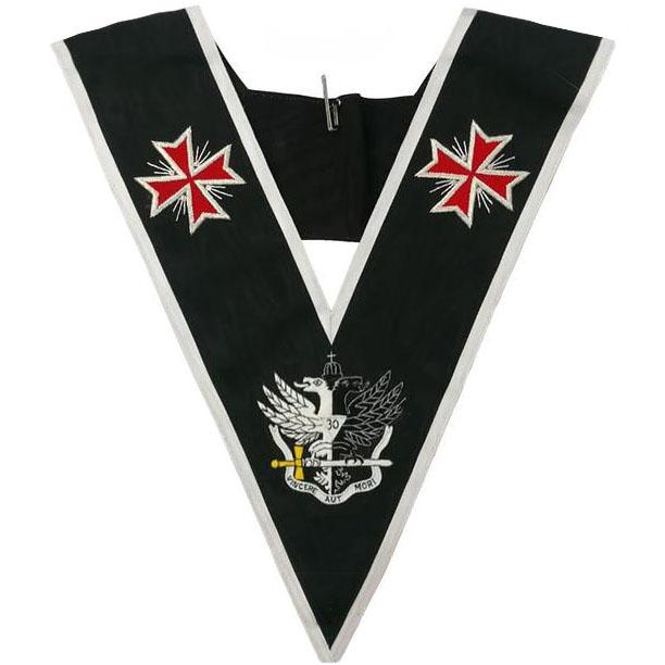 Masonic collar - AASR - 30th degree - Templar Cross & Bicephalic Eagle - Bricks Masons