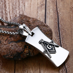 Military Tag Masonic Necklace - Bricks Masons