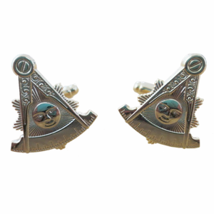 Square & Compass Past Master Masonic Cufflinks - Bricks Masons