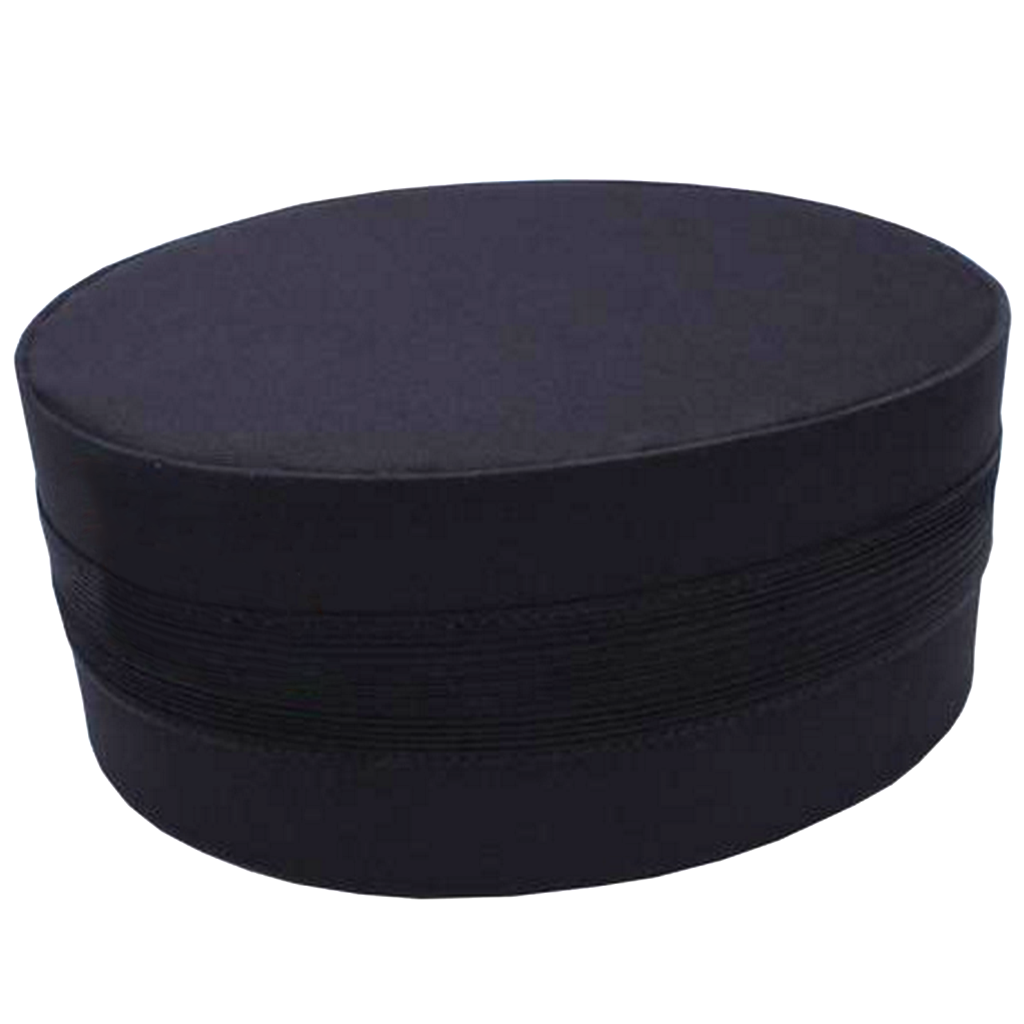 Masonic Black Cap with Black Braid - Bricks Masons