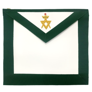 Allied Masonic Degree AMD Member Hand Embroidered Apron - Bricks Masons