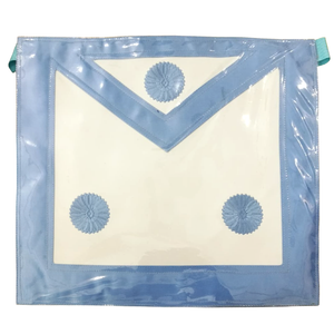 Master Mason Plastic Cover Apron - Sky Blue - Bricks Masons