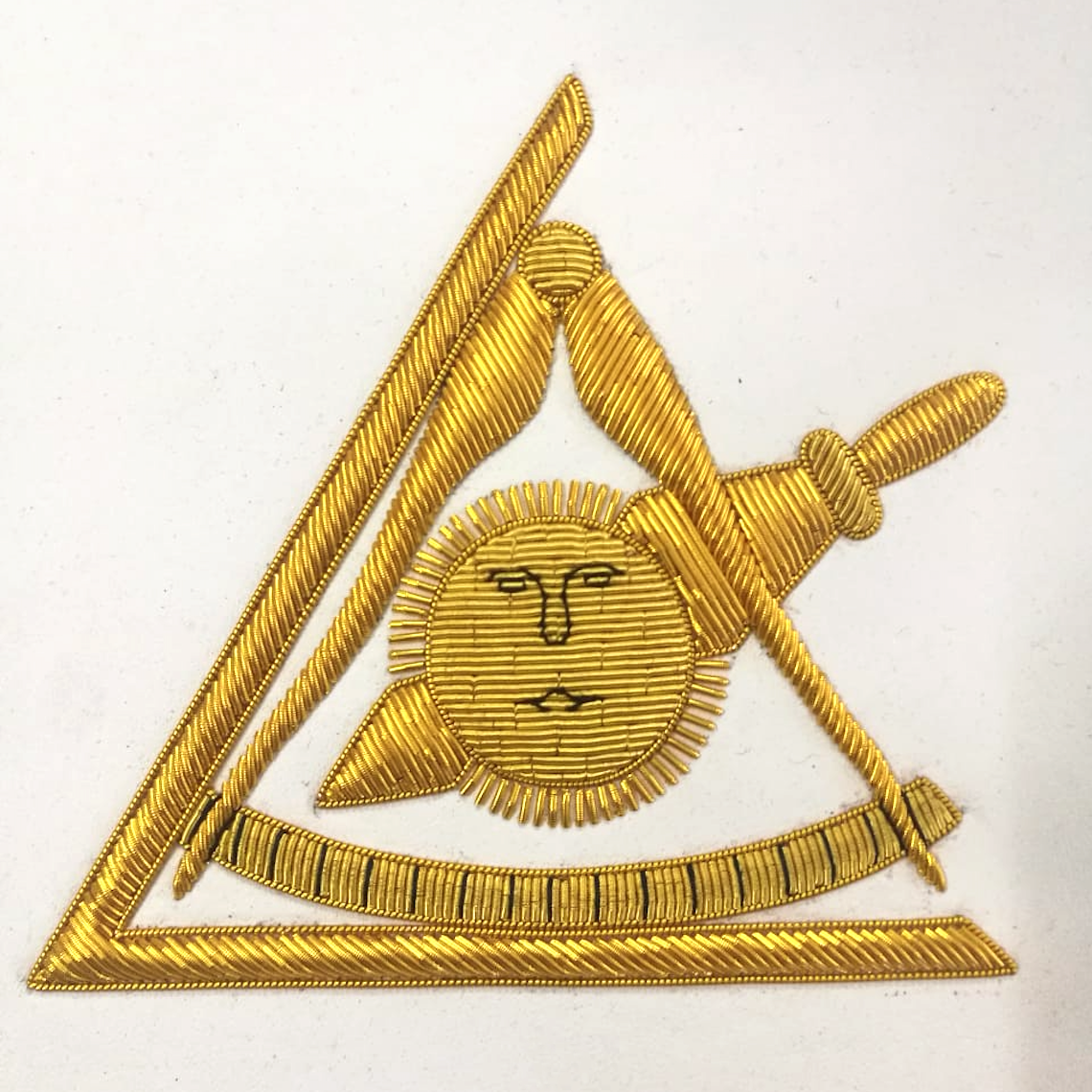 Masonic Past Thrice Illustrious Master Apron PTIM Hand Embroidered - Bricks Masons