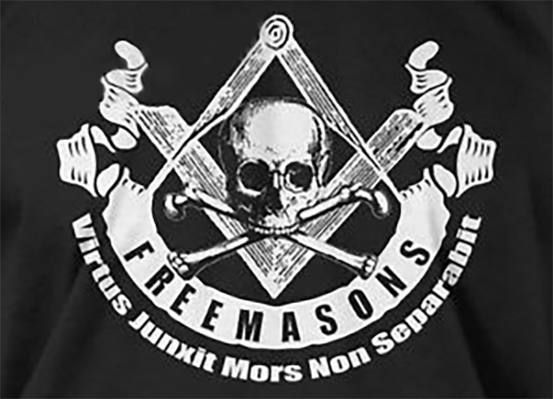Freemasons Skull & Bones Flag