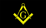 Black & Yellow Masonic Flag - Bricks Masons