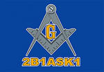 2B1ASK1 Masonic Flag - Bricks Masons