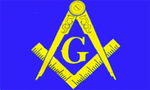 Blue & Yellow Masonic Flag - Bricks Masons