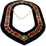Knights Templar Formée Pattée cross - Masonic Chain Collar - Gold on Black + Free Case