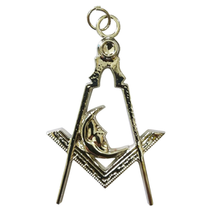 Masonic Regalia Silver Collar Jewel - Junior Deacon - Bricks Masons