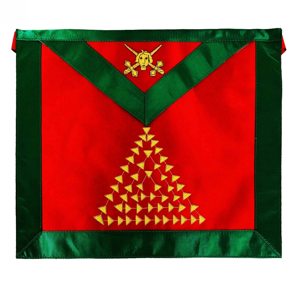 Masonic Scottish Rite Satin apron - AASR - 15th degree Bullion Embroidered - Bricks Masons