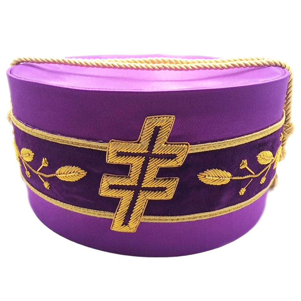 33rd Degree Scottish Rite Purple Cap Bullion Hand Embroidery - Bricks Masons